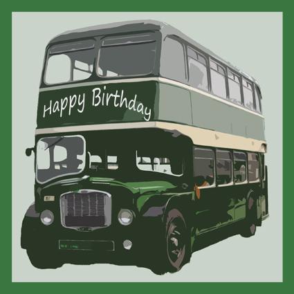 Green Bus Happy Birthday Card Green Bus Happy Birthday Card – Personalised Birthday Cards Ireland