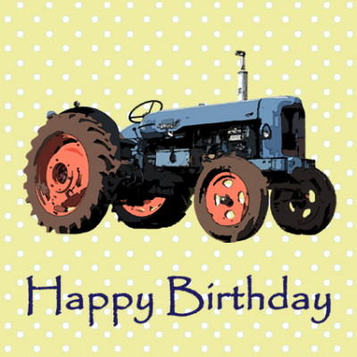 Blue Tractor Happy Birthday Card Blue Tractor Happy Birthday Card – Tractor Birthday Cards